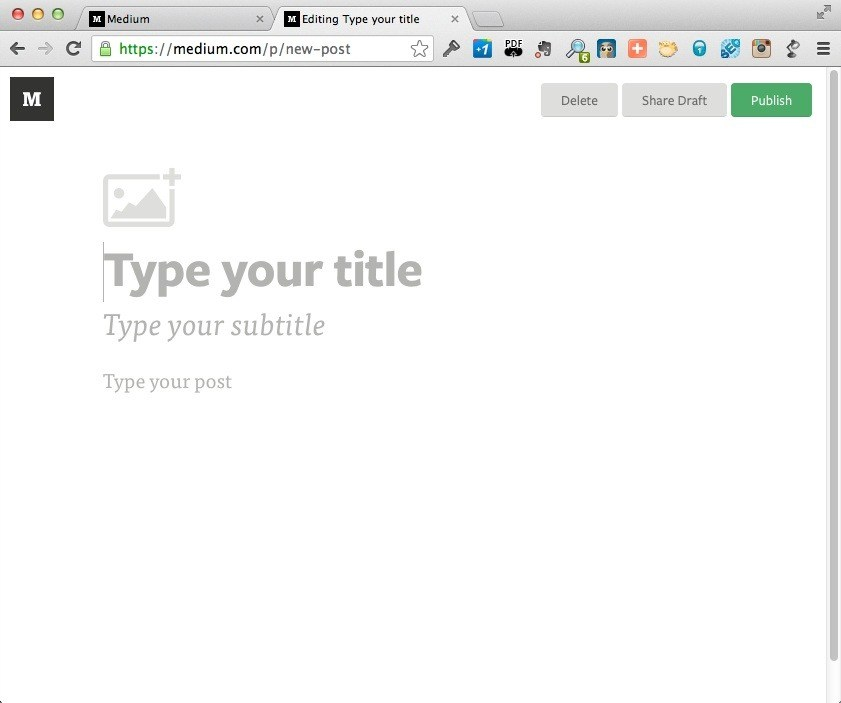 Medium Content Editing Interface
